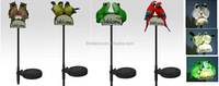 solar stake light solar resin frog/bird/owl/parrot stake lamp solar welcome stake light