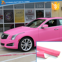 Conspicuity Body Sticker Pink Car Wrap Vinyl For Decoration