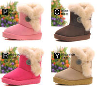 2013 Hot Fashion cheap warm kids fashion house snow boots 36pair/carton