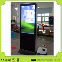 Digital marketing company 55 inch floor standing digital signage touch screen tablet pos display stand with mini pc
