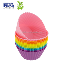 Christmas Cupcake silicone mold silicone flower cake mold Silicone baking form in various color