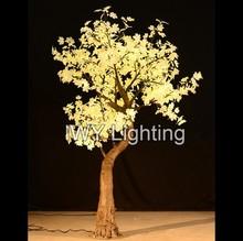 7ftขายส่งโรงงานอบอุ่นสีขาวเทียมเมเปิ้ลต้นไม้สำหรับตกแต่งบ้าน