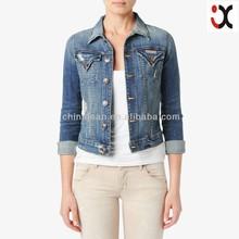 2015 classic & vintage stylish denim jacket women jacket JXQ539