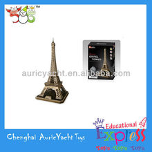 france souvenir eiffel tower,jigsaw puzzles for sale,paper puzzle games,3D puzzle for hardback Paris the Eiffel Tower ZH0904911