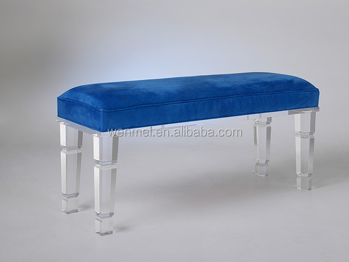 custom design clair acrylique banc de piano jambe canap. Black Bedroom Furniture Sets. Home Design Ideas