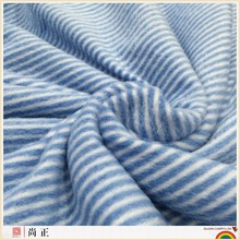 hot selling of 100% polyester brushed stripe printed polar fleece with ready-made pattern for garment & home textile