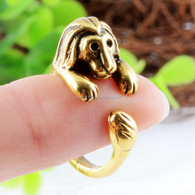 Lion Rings Animal Wrap Rings Jewelry Adjustable Retro Ring for Men & Women Resizable