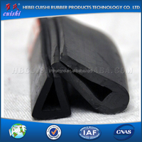 rubber seal u ISO approved slide in weather stripping