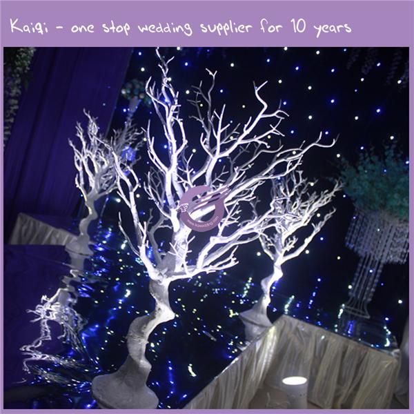 Silver Tree Branch Centerpiece : K wedding manzanita silver artificial dry tree