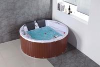 2 person wooden apron jet whirlpool bathtub