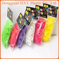 HXY silicone rainbow Bracelets loom Bands/mini rubber bands with Smell Scented Loom bands