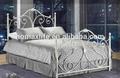 Modern branco twin cama de ferro forjado db-4707