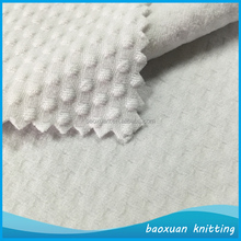 100% polyester spandex knit jacquard fabric ladies wear dot dobby fabric