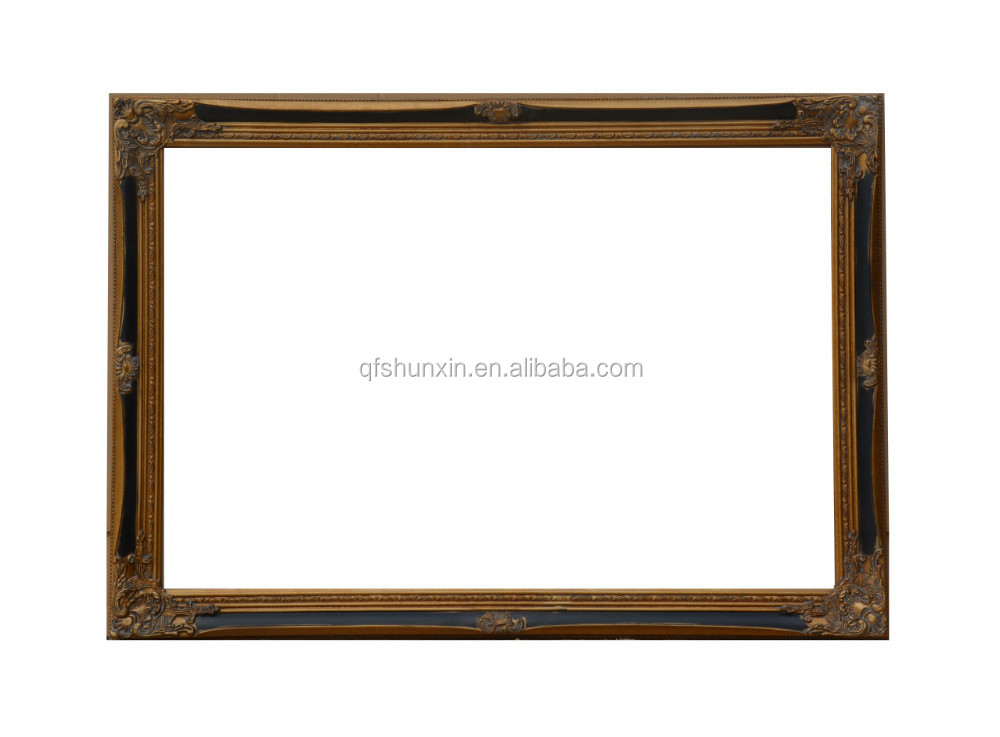 Full Trend Rustic Picture Frames : Rustic Style Wooden Carving Oil Painting Frames 50x60cm Antique - Buy ...