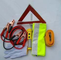 6 IN 1 Auto Safety Kit Car Emergency Kit with booster cable