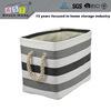 Dark stripes oblong stackable and modern laundry basket