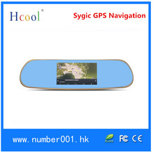 """5.0"""" LCD display Android System GPS Navigation rearview mirror car black box"""