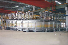 4.8 -- 6.2t/m3 pig iron / DRI production line /direct reduced iron (any kind of ore, even slag with Fe) gas based rotay kiln
