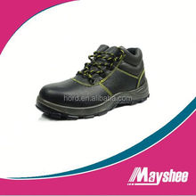 new leather high heel steel toe safety shoe