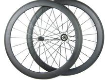Cheap carbon wheel basalt brake side U shape clincher wheelset road wheel 50mm novatec hubs 20/24 holes,QR skewers,v brake pads