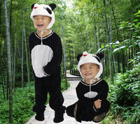 baby Cartoon panda modelling conjoined dance clothes dance jumpsuit