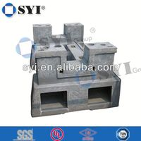 foshan 15inch aluminum sand casting weighted pole base - SYI group