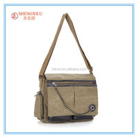2015 new style fashionableNylon sport shoulder bag and messenger bags canvas tote bag with outside pockets