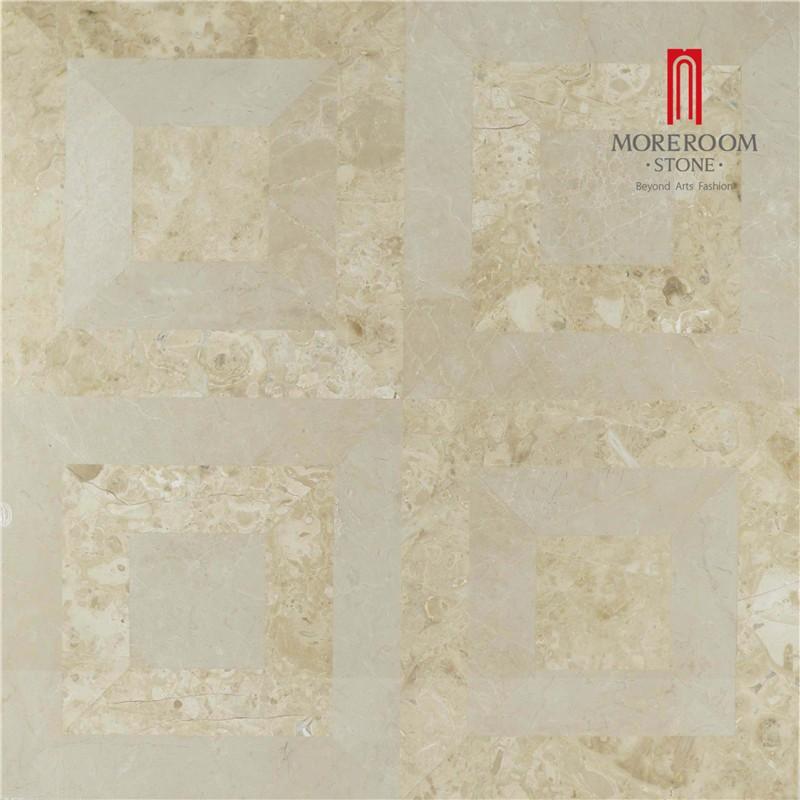 Moreroom Stone Yunfu Factory Iran Beige Marble Stone Tiles Marble Wall Design Marble Floor Design Pictures Floor Medallion Water Jet Marble Tiles 01.jpg