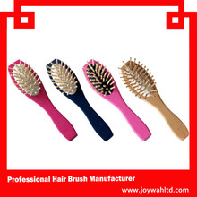 Hot sale colored wooden hair brush with spray pump