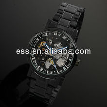 Home Watch Skeleton Dial Stainless Steel Mechanical Watch WM282