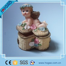 OEM ODM resin jewerly for gift, cute jewelry holder with baby design , wholesale fashion jewelry box