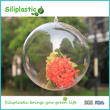 Transparent 80mm Hollow Design Custom Christmas Ball Ornament