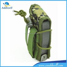 Camouflage molle tactical military knit mobile phone bag