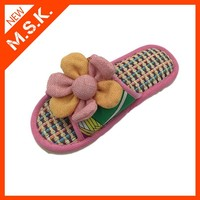 Latested colorful flower design rubber summer sandal slippers