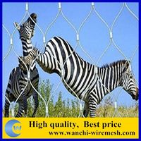 China manufacture hand woven stainless steel wire rope zoo fencing mesh