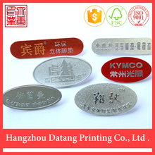 2015 cheap oval aluminum plate free standing metal letters
