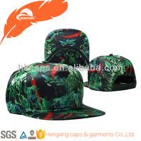 Custom logo hat snapback/blank tribal fabric/floral fabric hat