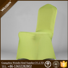 Banquet high quality light green spandex chair cover wedding decoration for meeting