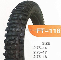 Hot sale China brand motorcycle tyre manufacture 2.75-14-6pr tire for Yamaha