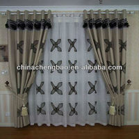 2014 china wholesale ready made curtain,heart print curtain fabric