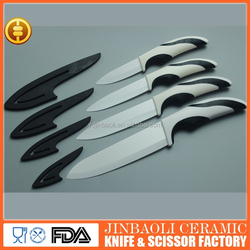 6 inch ceramic kitchen knife chef knife with pp /tpr handle in sheath