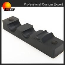 Custom rubber to metal bonding reinforced wiper motor mounts