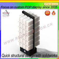 Floor standing acrylic cell phone accessory display stand