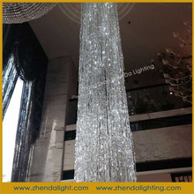 Eyeball-catching gorgeous pillar project lighting &crystal pendant lamp for hotel and big hall