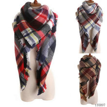 Fall womens fashion modern plaid scarves pashmina