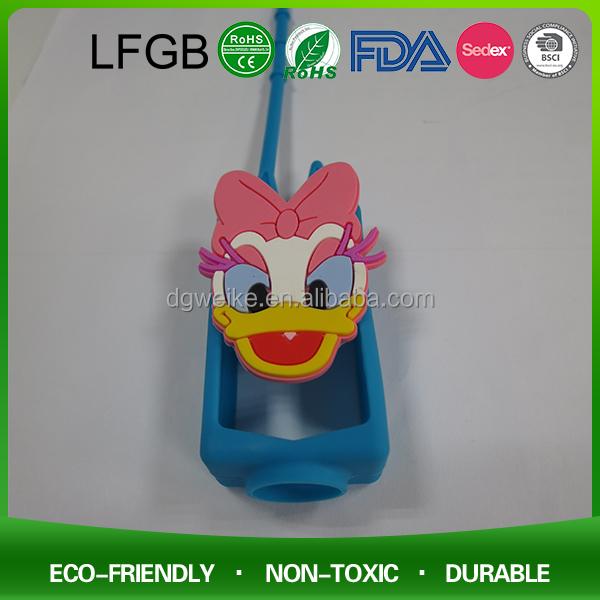 Portátil colorido frasco de perfume de silicone titular