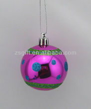 faddish hand-painted christmas decorations hollow plastic ball