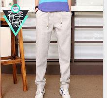 2015 primavera uomini adulti pantaloni casual pantaloni con tasche laterali di alta qualità pantaloni uomo