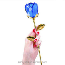 beautiful real color crystal rose for Valentine's day gifts