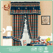 Ready made curtain supplier Comfortable Modern home brand kitchen curtains